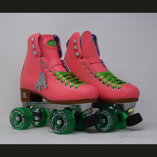 Slightly Used Moxi Beach Bunny Watermelon Roller Skates | Mens 4 (Ladies 5)