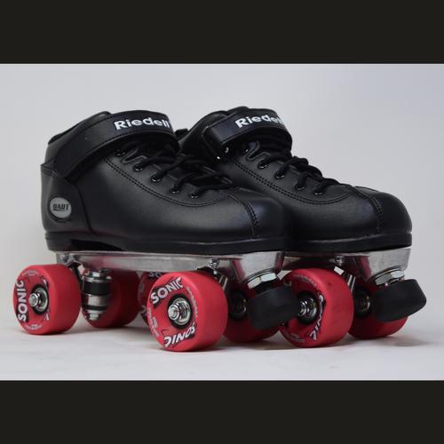 Slightly Used Riedell Dart Sonic Outdoor Roller Skates  | Mens 8 (Ladies 9)