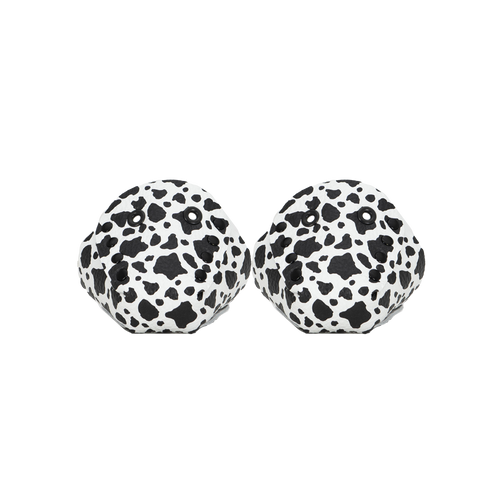Front Facing Black and White Cowhide Leather Toe Caps from Roller Skate Nation