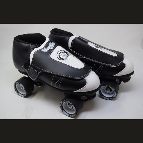 Slightly Used VNLA Jr. Tuxedo Jam Skates   Mens 12