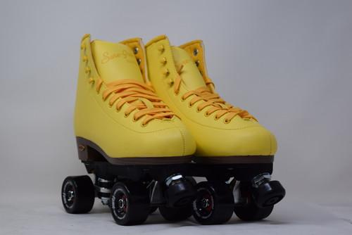 Slightly Used Sure-Grip Fame Indoor Roller Skates   Yellow, Men's 8 (Ladies' 9)