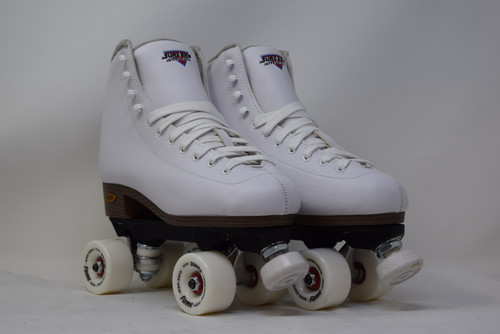 Slightly Used Sure-Grip Fame Indoor Roller Skates   White, Men's 8 (Ladies' 9)
