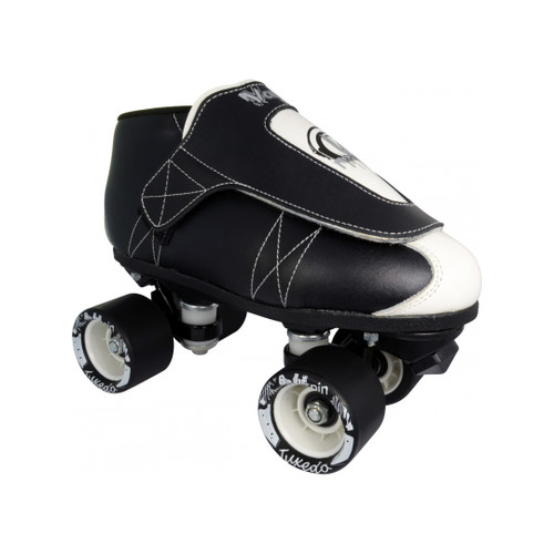 Front Facing VNLA JR Tuxedo Roller skates from Roller Skate Nation