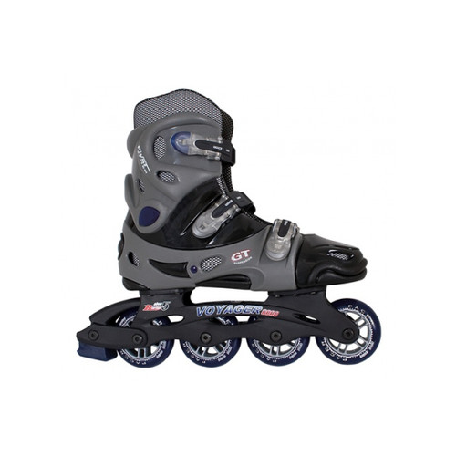 Side Facing Gray Pacer Voyager Roller Blades from Roller Skate Nation