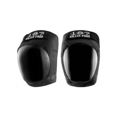 Front Facing Black 187 Killer Pro Knee Pads from Roller Skate Nation 1