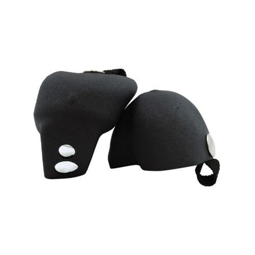 Front Facing Black Roller Derby Toe Caps from Roller Skate Nation