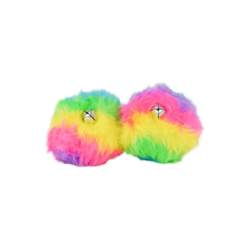 Front Facing Rainbow Sure Grip Pom Poms from Roller Skate Nation