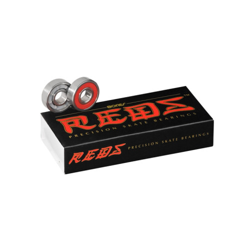 Front Facing China Bones Reds Bearings from Roller Skate Nation