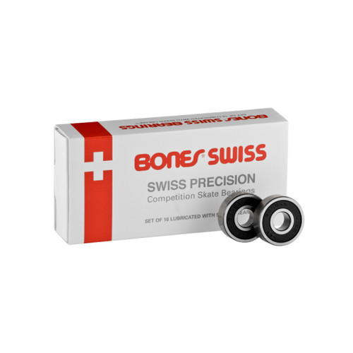 Front Facing Bones Swiss Bearings from Roller Skate Nation