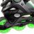 Close Up Green Lenexa Viper Adjustable Roller Blades from Roller Skate Nation 1
