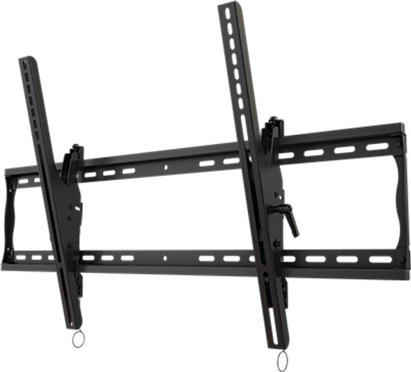 """Universal tilting wall mount for 37"""" to 90"""" flat panel screens with post installation leveling"""