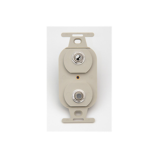 Face Plate - Duplex, F81, 1/4in Receptacle, Ivory