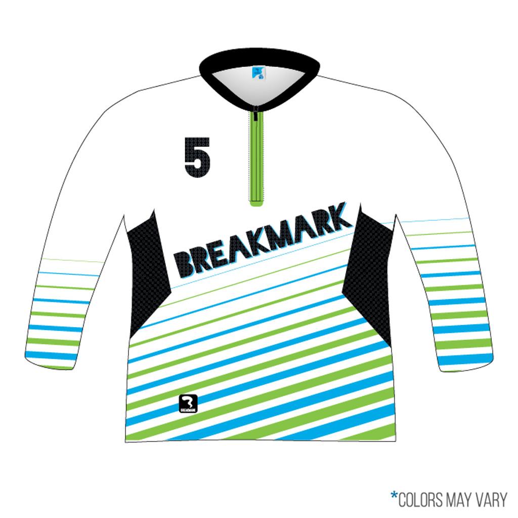 Breakmark Full Sub Long Sleeve Quarter Zip Back with Optional Pockets