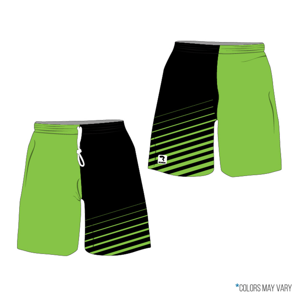 Breakmark Front Panel Shorts with Lime Side