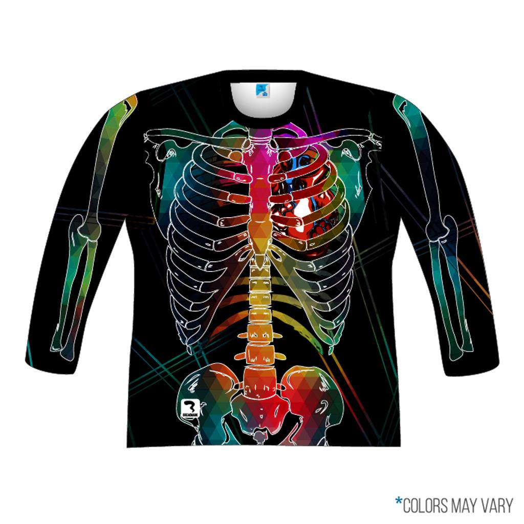 Black Skeleton Long Sleeve Front