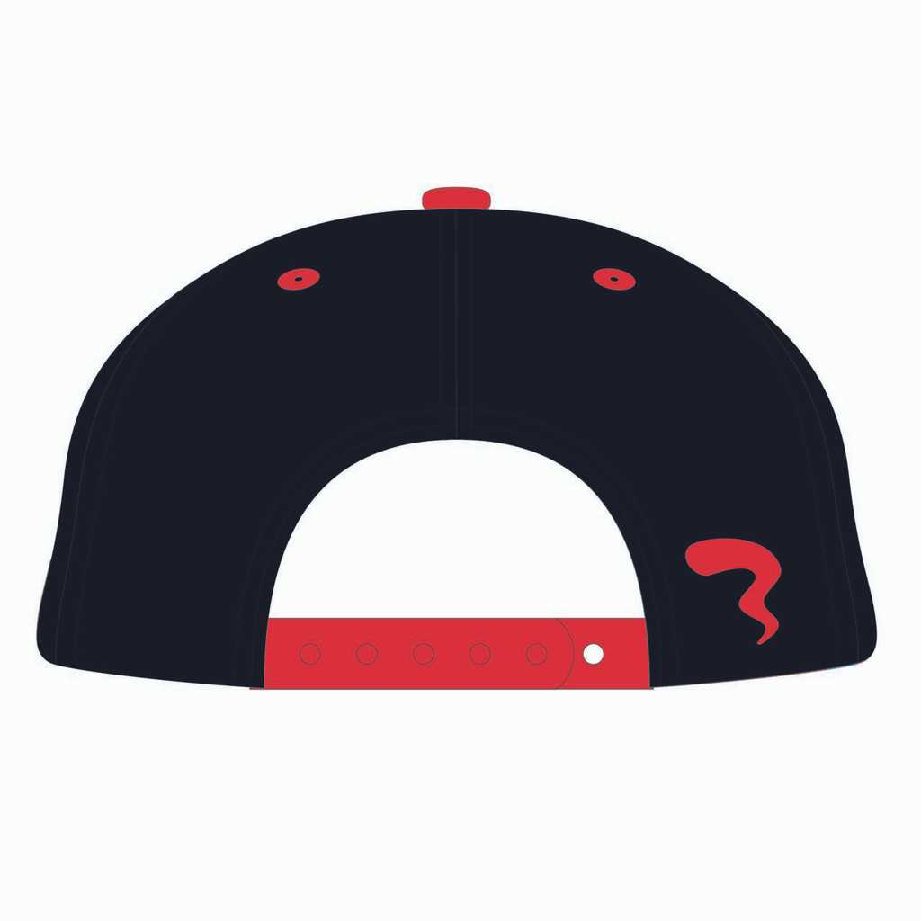 Back of 90s Throwback Black/Red Design