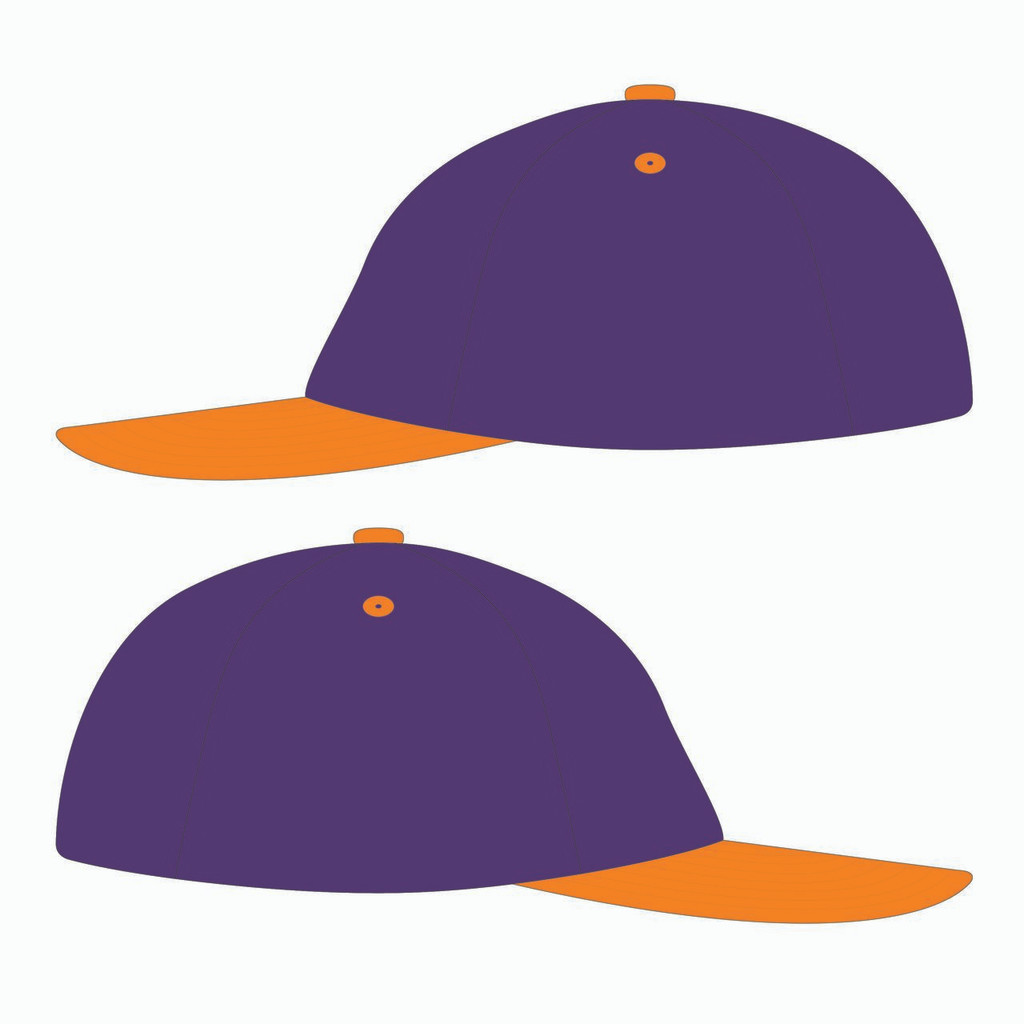 Sides of 90s Throwback Orange/Purple Design