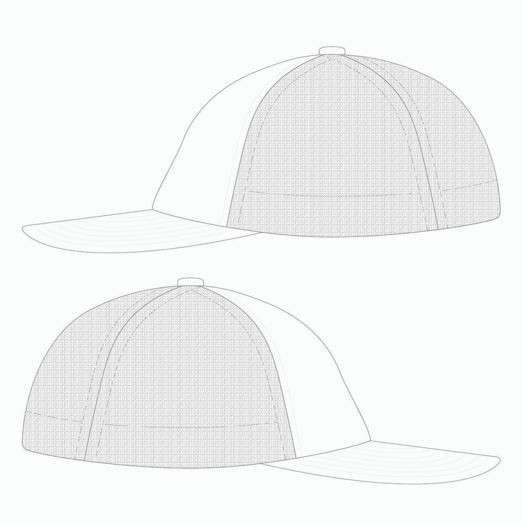 Side view of white trucker hat.