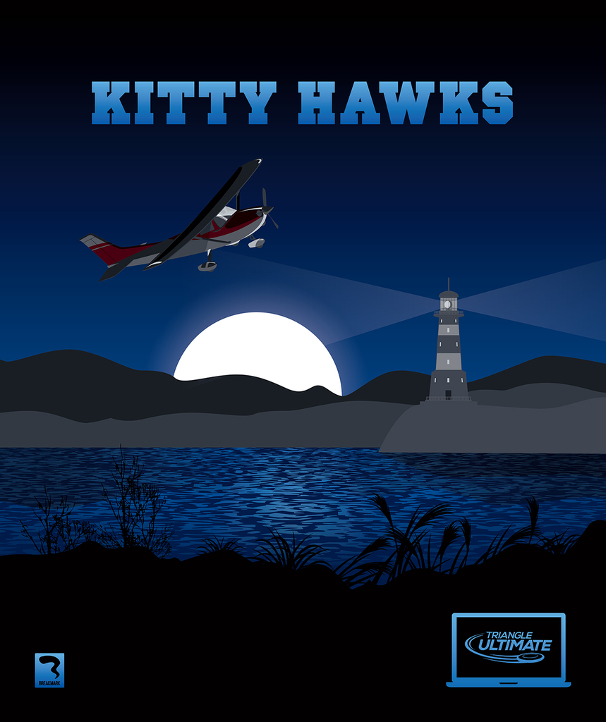 Triangle Kittyhawks Dark Blanket