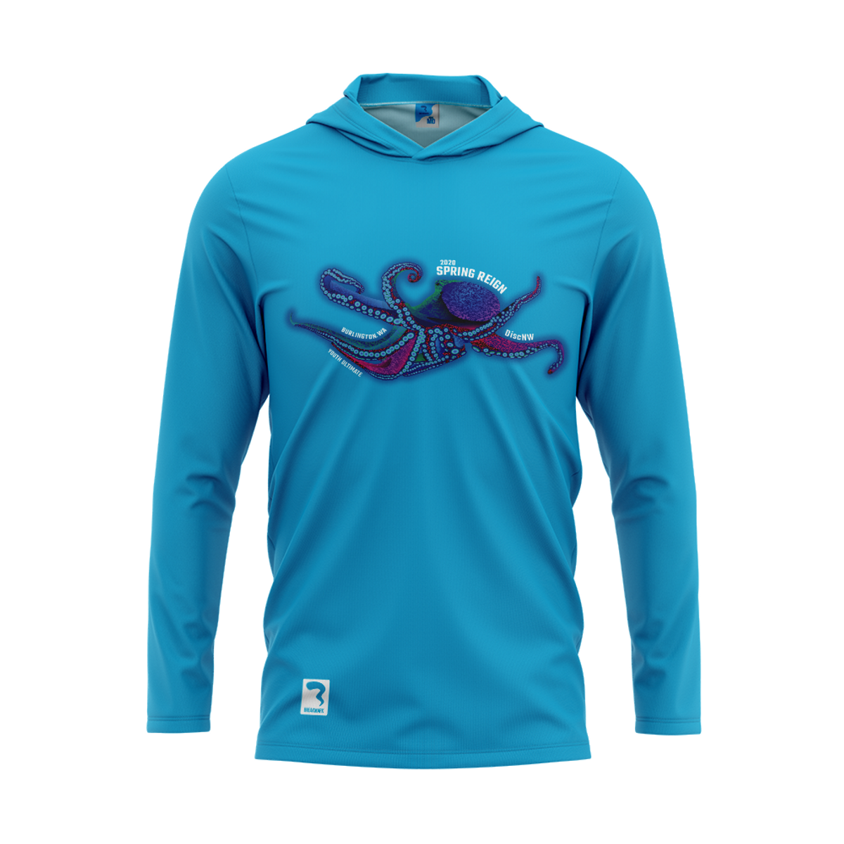 Spring Reign Electric Blue Sub Long Sleeve Hood