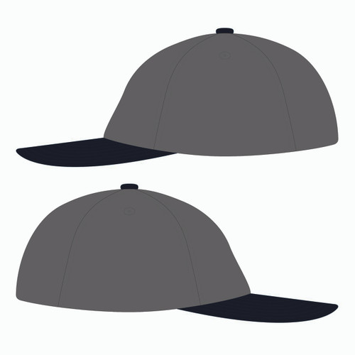 Sides of grey baseball hat.