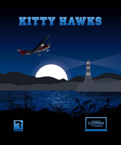 Triangle Kittyhawks Dark Towel