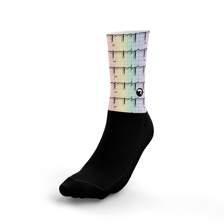 EKG Rainbow Socks