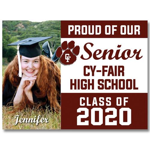 Cy-Fair High School Custom Graduation Yard Sign