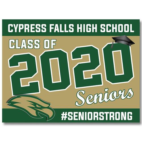 Cy Falls High School Pre-designed Senior Yard Sign