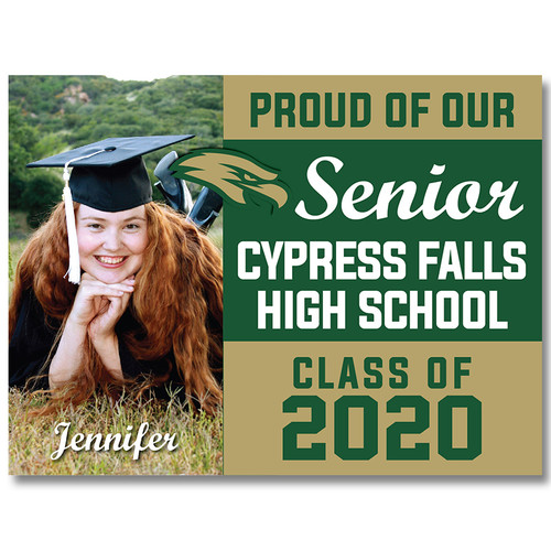 Cy-Falls High School Custom Graduation Yard Sign