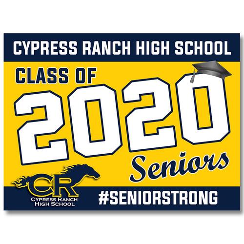 Cy Ranch High School Pre-designed Senior Yard Sign