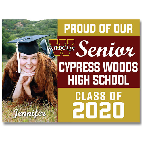 Cy-Woods High School Custom Graduation Yard Sign