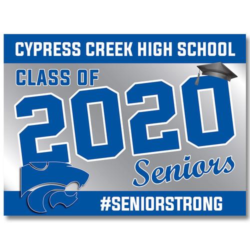 Cy Creek High School Pre-designed Senior Yard Sign
