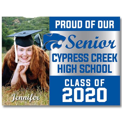 Cy-Creek High School Custom Graduation Yard Sign