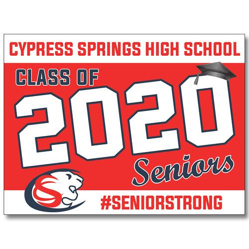 Cy Springs High School Pre-designed Senior Yard Sign