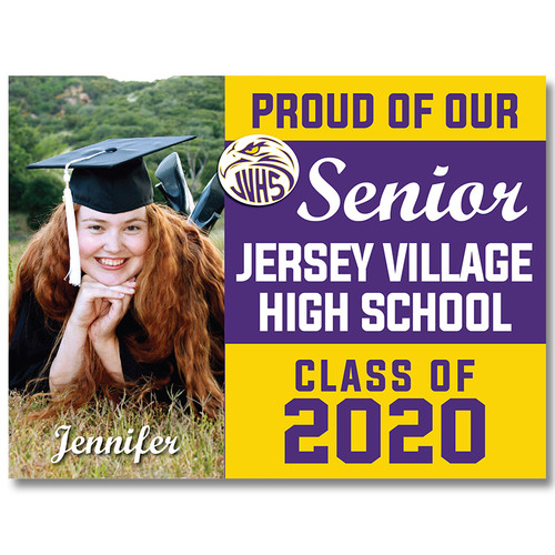 Jersey Village High School Custom Graduation Yard Sign