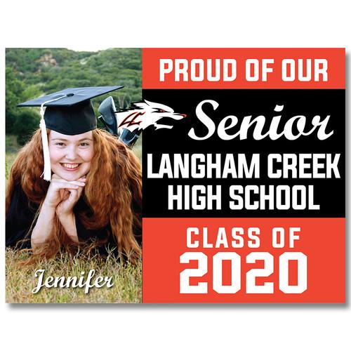 Langham Creek High School Custom Graduation Yard Sign