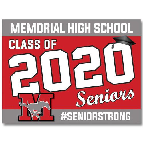 Memorial High School Pre-designed Senior Yard Sign