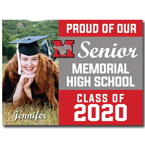 Memorial High School Custom Graduation Yard Sign