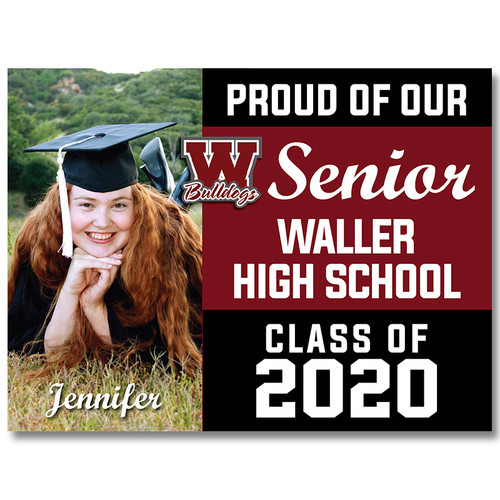 Waller High School Custom Graduation Yard Sign