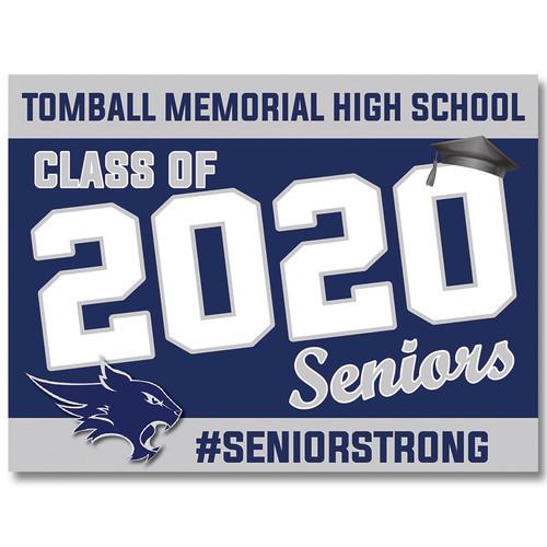Tomball Memorial High School Pre-designed Senior Yard Sign