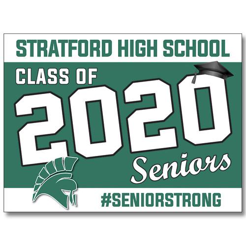 Stratford High School Pre-designed Senior Yard Sign