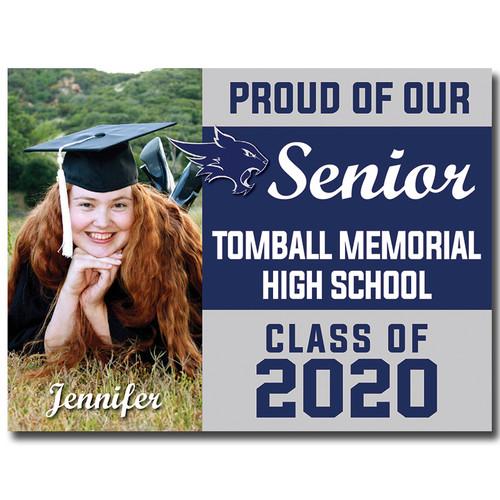Tomball Memorial High School Custom Graduation Yard Sign