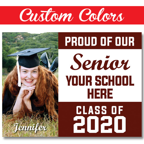 Custom School Custom Photo Graduation Yard Sign
