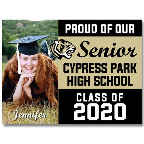 Cy Park High School Custom Graduation Yard Sign