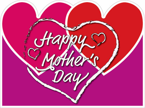 Mother's Day Yard Sign - 3 hearts