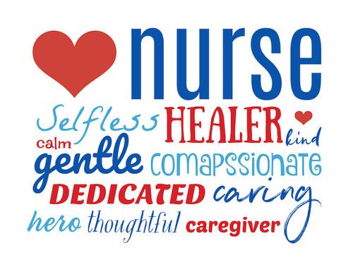 Nurse Week Yard Sign - Word Bank