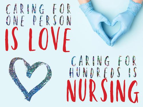 Nurse Week Yard Sign - Caring for hundreds
