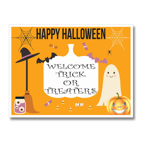 Welcome Trick or Treaters Yard Sign