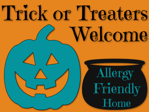 Allergy Friendly Halloween Sign